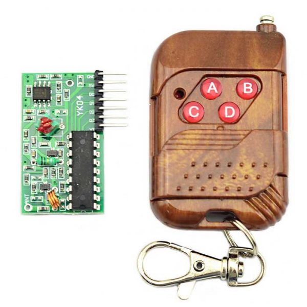 Four-way wireless remote