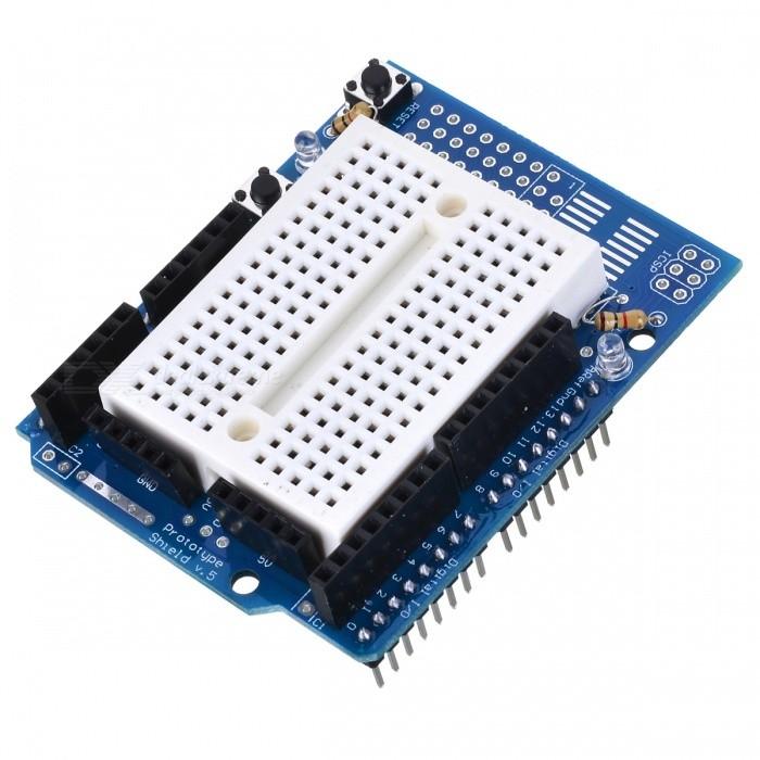 Prototype Shield with Mini Breadboard for Arduino